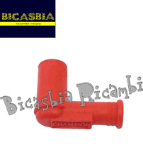10900 - PIPETTE BOUGIE ROUGE SILICONE VESPA 180 200 RALLY SS 150 160 GS GL
