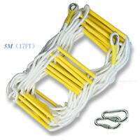 5M Rescue Rope Ladder 17FT Escape Ladder Emergency Work Safety Response Fire