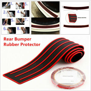 Car SUV Rear Bumper Sill / Protector Plate Rubber Cover Guard Pad Moulding Red