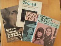 Lot of 4 Books - French filmmakers Clair & Godard; French film since '45