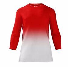 New Nike Men's L Pro Digital Top 3/4 Red White Baseball 884512 Raglan Sleeve $65
