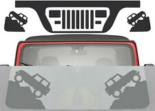 "Matte Black Windshield Decals ""JK STYLE"" For 1987-1995 Jeep Wrangler YJ New USA"