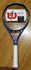 "NEW Wilson Tour Slam Lite Tennis Racket, Black Blue and White, 4 3/8"" Grip"