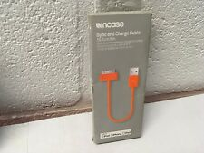 IPOD INCASE SYNC AND CHARGE CABLE ORANGE, NEW IN BOX