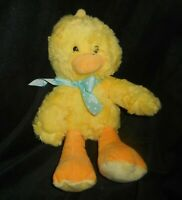 """11"""" ANIMAL ADVENTURE 2016 EASTER BABY YELLOW DUCK W BOW STUFFED PLUSH TOY LOVEY"""