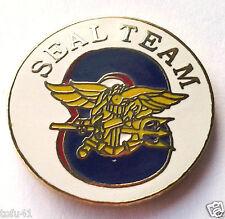 US NAVY SEAL TEAM EIGHT Military Veteran Hero Hat Pin P15981 EE