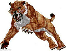 "Sabre Tooth Tiger Embroidered Patch 11.5CM X 10CM (4 1/2"" X 4"")"