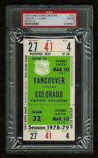 PSA 10 COLORADO ROCKIES 1979 Unused NHL Hockey Ticket at Pacific Coliseum