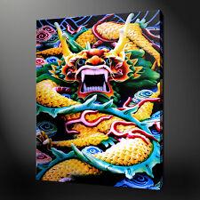 DRAGONE CINESE TELA DA PARETE ARTISTICA IMMAGINI IMPRONTE 76.2x50.8cm