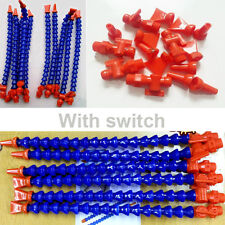 12 pcs Flexible Plastic Water Oil Coolant Pipe Hose for Lathe CNC with Switch