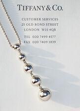 Tiffany & Co Argento Sterling Graduato Collana di perle a goccia