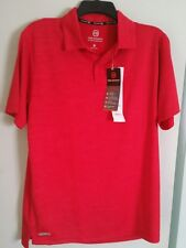 FREE COUNTRY MEN'S POLO SHIRT - SIZE SMALL - COLOR TANGO RED HEATHER - NWT