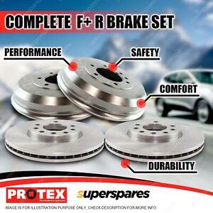 Protex Front + Rear Brake Rotors Drums for Holden Camira JD 1.8L JE 2.0L 84-8/89