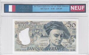 BILLET DE 50 FRANCS QUENTIN DE LA TOUR 1987 NEUF!!