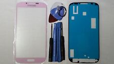Samsung Galaxy S4 Pink Genuine Glass Replacement Screen Lens Tools + Adhesive