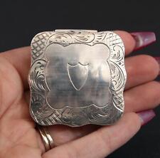Antique Hallmarked Dutch 833 Silver Trinket Pill Box, No Monogram, No Reserve