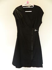 Skunkfunk Black Cotton Wrap Dress Size 3