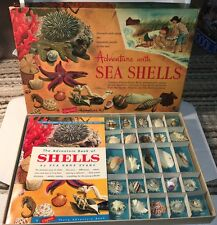 1957 ADVENTURE WITH SEA SHELLS A CAPITOL KIT AND BOOK SIMON SCHUSTER FUN LEARN !