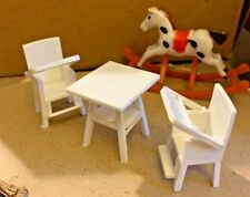 1/24th scale dolls house nursery set and rocking horse