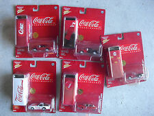 Lot of 5 Johnny Lightning Coca Cola Cars with Collectible Tins NIP