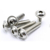 M3 M4 M5 M6 Hex Socket Bolt Button Flanged Washer Head Screw 304 Stainless Steel