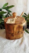 Olivenholz Honigtopf 3-teilig rustikal Handarbeit Holz Olivenöl Baum  (HT5)