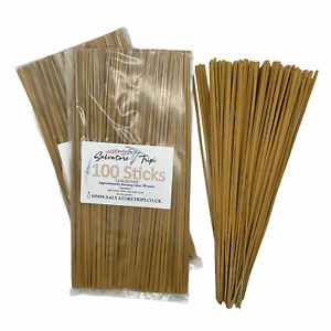 100 UNSCENTED Incense STICKS High Quality Unfragranced Neutral Natural Raw DIY A