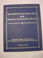1998 MARK MCGWIRE & SAMMY SOUSA HOME RUN RECORD GOLD BASEBALL CARDS