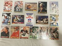 1990 NFL Pro Set - 15 Mixed Lot Trading Cards - Collectors, Good Condition, Bulk