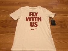 Nike Dri Fit White Red Fly With US T Shirt NBA Basketball Lebron Kyrie KD 23 M