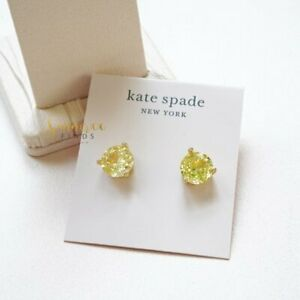 Kate Spade Rise and Shine Crystal Studs Yellow $39
