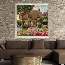 Garden Cottage 5D Diamond Embroidery Painting DIY Craft Cross Stitch Home Decor