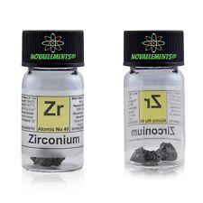Zirconio metallico elemento 40 Zr, 2g 99,9% in fiala con etichetta