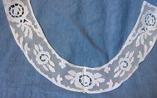 Antique Appliqued Net Lace Collar Beautiful! White