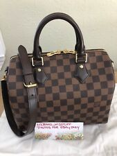 LOUIS VUITTON SPEEDY 25 BANDOULIERE DAMIER EBENE EXCELLENT