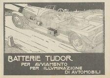 Z1690 Batterie TUDOR - Illustrazione - Pubblicità d'epoca - 1922 Old advertising