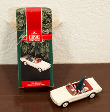 1992 HALLMARK 1966 FORD MUSTANG CLASSIC AMERICAN CARS CHRISTMAS ORNAMENT MIB