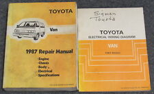 1987 Toyota Van Service Repair Manual Set
