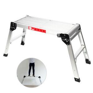 Large Folding Platforms Bench Hop Step Decorators Plasterers Work Plate Ladder