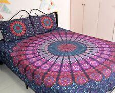 Mandala Duvet Doona Hippie Bohemian Indian Queen Quilt Cover Comforter Set