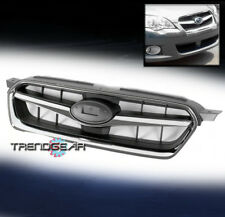 FRONT UPPER GRILLE INSERT GRILL BLACK/CHROME SHELL FOR 2005-2007 SUBARU LEGACY