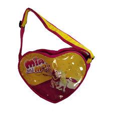 MIA E ME borsetta a forma di cuore fucsia e giallacon tracolla regolabile bambin
