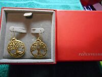"NEW RED ENVELOPE Tree of Life Earrings 1-1/2"" Drop NEW IN BOX  JTY"