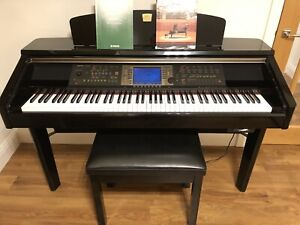 Yamaha Clavinova CVP 209 Digital Piano Complete With Instruction Manual & Stool