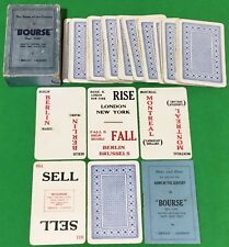 Vintage 1935 Benco ** BOURSE ** Playing Cards WORLD CURRENCY MONEY Card Game
