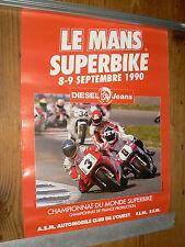 Affiche   Moto  Championnat du Monde SUPERBIKE   1990  DUCATI   poster course