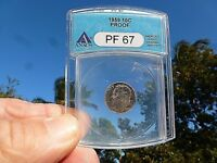 1959 Roosevelt Dime - PF 67  Anacs Grading Service Proof