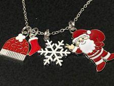 "Christmas Winter Assorted Enamel Charm Tibetan Silver 18"" Necklace Mix B"