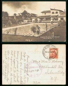 Mexico Alberta Del Hotel Censored 1942 RPPC to Schenectady NY