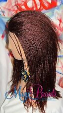 """Fully Braided LACE Front with deep part WIG Micro Braids Color #35 16"""" to 18"""""""